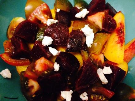 Peach, Beet, Tomato Salad